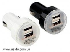 Зарядное устройство USB в прикуриватель на 2 порта