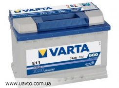 6СТ-74Ач Аккумулятор Varta Blue 680А