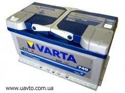 6СТ-80Ач Аккумулятор Varta Blue 780А