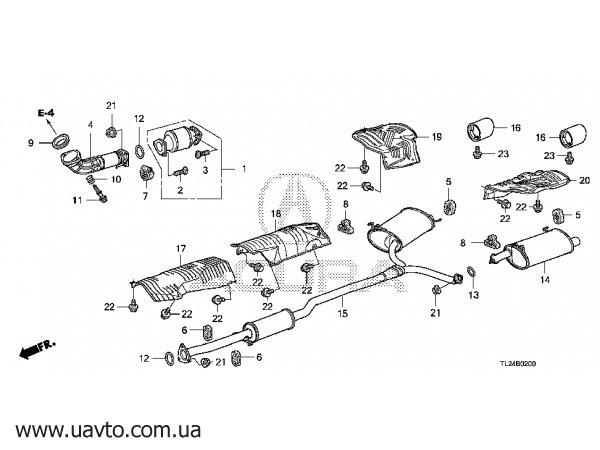 Выхлопная система Для Хонда Аккорд 03-07