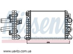 Интеркулер радиатора   MERCEDES ATEGO (97-)  Мерседес Атего 10 тонн