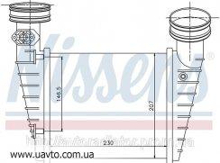 Интеркулер радиатора   SKODA SUPERB 02- 1.8i  Шкода Суперб 20V
