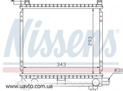 Радиатор охлаждения MERCEDES / Мерседес  190 W 201 (82-) E 1.8