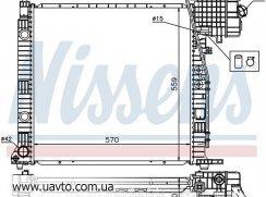 Радиатор двигателя MERCEDES / Мерседес  V-CLASS W 638 (96-) V