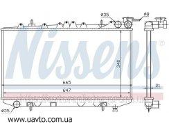 Радиатор охлаждения NISSAN PRIMERA Примера P10 (90-) 1.6i