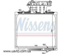 Радиатор охлаждения MAN TG-A (02-) 310 HP Berh Ман ТГА 310 НР