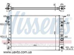 Радиатор охлаждения CADILLAC CATERA Кадилак (97-) 3.0 i V6