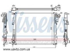 Радиатор OPEL VIVARO  (01-) 2.0 CDTi NISSAN   PRIMASTAR 02- 2.0 dCi