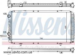 Радиатор охлаждения CITROEN / Ситроен  JUMPER (94-) 1.9 D
