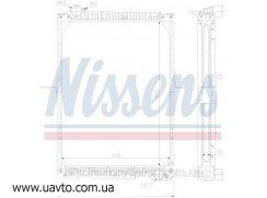 Радиатор охлаждения MERCEDES NG 90 (87-) TitanX Мерседес 17 т