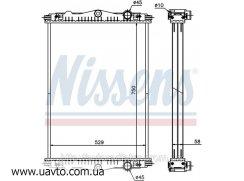 Радиатор охлаждения DAF LF 55 (01-) 250 Ниссенс ДАФ без рамок