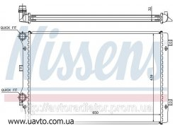 Радиатор охлаждения AUDI A 3 / S 3 (03-) Ауди А3  С3 1.8 TFSI