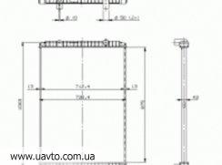 Радиатор охлаждения RVI - RENAULT TRUCKS PREMIUM без рамки