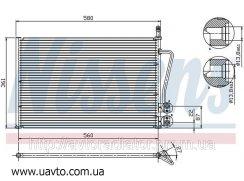 Радиатор кондиционера FORD FIESTA (01-) Efi  Форд Фиеста 1.25