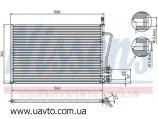 Радиатор кондиционера FORD FIESTA (01-) Efi