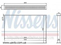 Сердцевина интеркулера DAF CF 85 ДАФ ЦФ 85 Сердцевина радиатора