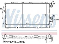 Радиатор охлаждения Nissens, Behr  AUDI 100 (76-) 1.6