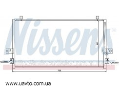 Радиатор кондиционера NISSAN MAXIMA QX (94-) Ниссан Максим 2.0 i V6
