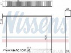 Сердцевина интеркулера DAF CF 85 ДАФ ЦФ85 Сердцевины радиатора