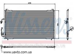 Радиатор кондиционера PEUGEOT 406 (95-) 1.6i КОНДЕНСАТОР  Пежо 406