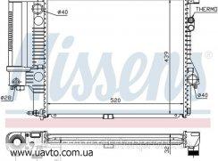 Радиатор охлаждения Nissens, Behr  для БМВ BMW 5 E 39 (95-) 520 i