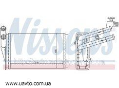 Радиатор отопителя AUDI 80 / 90 (86-) 1.4 авторадиатор Ауди 80