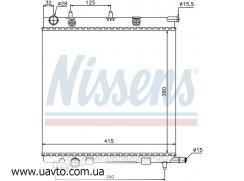 Радиатор охлаждения Ситроен Nissens CITREN C2 (02-) 1.1 i