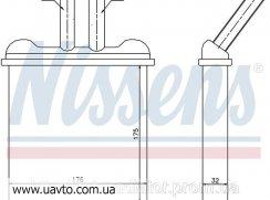 Радиатор отопителя DACIA LOGAN (04-) 1.6  DACIA LOGAN (04-) 1.6