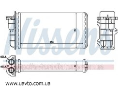 Радиатор отопителя FIAT BRAVA (95-) 1.2 i Фиат Браво 1.2 i 16V