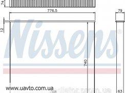 Сердцевина интеркулера VOLVO F 10-12 Вольво Ф Nissens Ниссенс