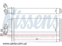 Радиатор отопителя MERCEDES V-CLASS W 638 Мерседес 96-