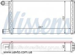 Радиатор отопителя MERCEDES 207 D 77- 2.4 Мерседес 207  дизель