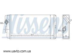 Радиатор отопителя MERCEDES 507D-814D 86- Мерседес дизель