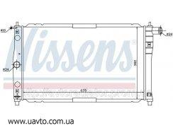 Радиатор охлаждения DAEWOO LANOS 97-1.3i Радиатор Део Ланос