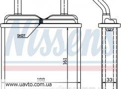 Радиатор отопителя AVA OPEL KADETT Е 84- ASCONA C (81-) 1.3
