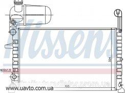 Радиатор охлаждения FIAT TEMPRA (90-) 1.4. FIAT TIPO (88-) 1.4 i