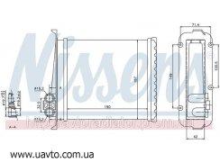 Радиатор охлаждения VOLVO 850 (91-) 2.0 i  Вольво 850 10V