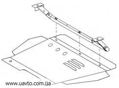 Защита двигателя Кольчуга  Skoda Fabia I 1999-2007 (1.9367.00)