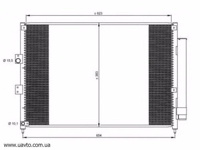 Радиатор кондиционера KOYORAD HONDA CIVIC VIII