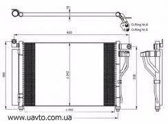 Радиатор кондиционера хюндай акцент 1.5 црди