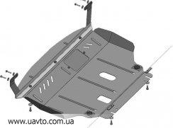 Защита двигателя Кольчуга  Ford Fiesta VII 2008- (1.0268.00)