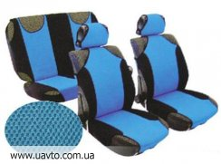 Майки для передих сидений Vitol  AG-230883 2 шт. (черно-синие)