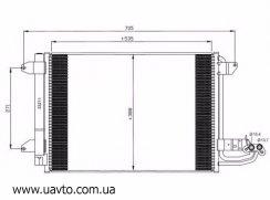 Радиатор кондиционера AUDI A3, VW GOLF 5