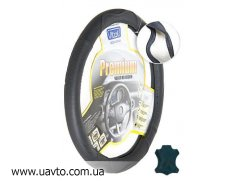Чехол (оплетка) на руль Vitol  B 402 M кожа (черный)