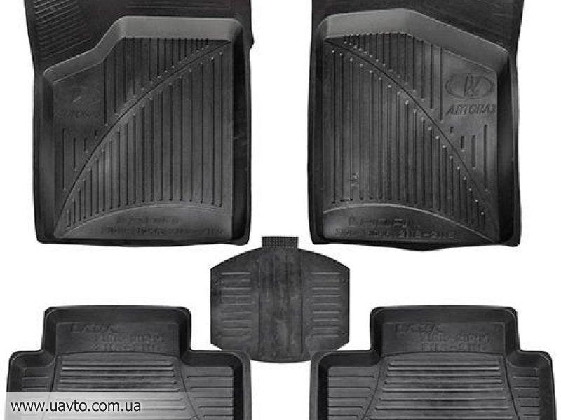 Комплект ковриков автомобильных Vitol  ВАЗ 2108-21099, 2113-2115 (09991) черные (5 шт.)
