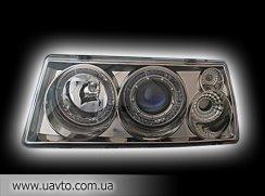 Фара передняя Польша Lada 2108-2199 MB-1 стиль, черный-хром, с гидрокорректором RS-03979