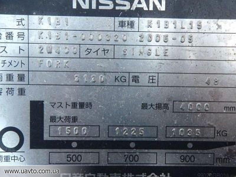 Погрузчик Nissan K1B1L15